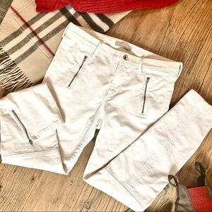Winter white corduroy jeans from Banana Republic
